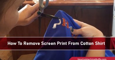 How To Remove Screen Print From Cotton Shirt