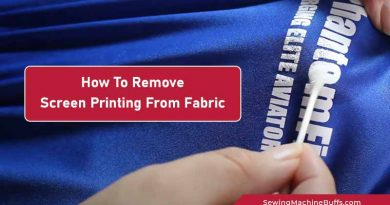 How To Remove Screen Printing From Fabric