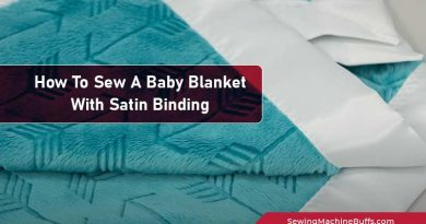 How To Sew A Baby Blanket With Satin Binding