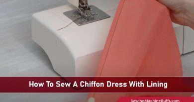 How To Sew A Chiffon Dress With Lining