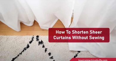 How To Shorten Sheer Curtains Without Sewing