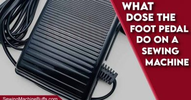 What Does The Foot Pedal Do On A Sewing Machine