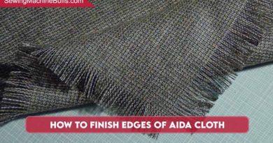 How To Finish Edges Of Aida Cloth
