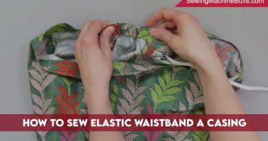 How To Sew Elastic Waistband Without A Casing