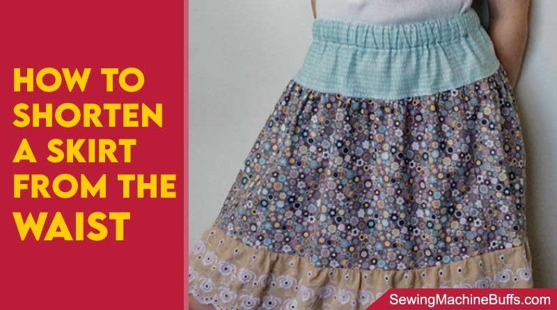 How To Shorten A Skirt From The Waist